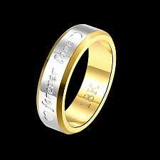 Buy fashion men ring titanium steel 18K gold plated ring
