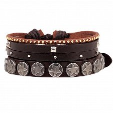 Buy fashion men leather beads bracelet