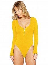 Buy women fashion yellow bodysuit