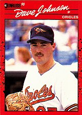 Buy Dave Johnson #702 - Orioles 1990 Donruss Baseball Trading Card
