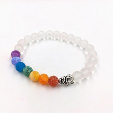 Buy fashion men natural white beads bracelet