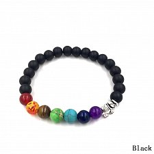 Buy fashion men natural black beads bracelet