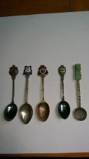 Buy 5 ANTIQUE SPOONS SET. SEE PICTURES.