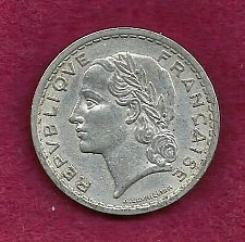 Buy FRANCE French 5 FRANCS 1949 COIN WWII ERA Currency
