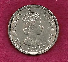 Buy 1960 Hong Kong 1 Dollar Coin Elizabeth II (Under British Rule) wi/reeded security rim