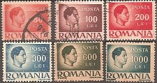 Buy Romania: King Michael regular stamps (1945-1946) Used