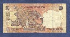Buy INDIA 10 Rupees 2007 Banknote 19P 393191 - Mahatma Gandhi/ Tiger