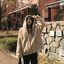 Buy women Loose Hooded SOFT Coat