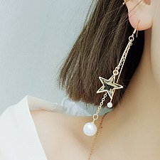 Buy Women pearl star earring