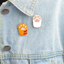 Buy 2pcs cute paws brooch