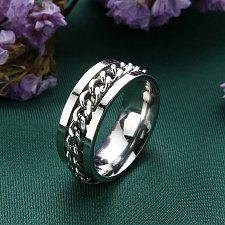 Buy fashion WOMEN MEN stainless steel ring silver
