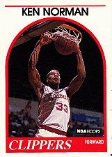Buy Ken Norman #162 - Clippers 1989 NBA Hoops Basketball Trading Card
