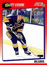 Buy Scott Stevens #40 - Blues 1991 Score Hockey Trading Card