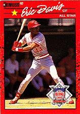 Buy Eric Davis #695 - Reds 1990 Donruss Baseball Trading Card