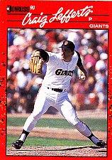 Buy Craig Lefferts #376 - Giants 1990 Donruss Baseball Trading Card
