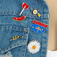 Buy 6pcs cute brooch jewelry children