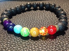 Buy lava stone black beads bracelet