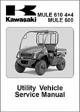 Buy Kawasaki Mule 610 4X4 / Mule 600 Service Repair Workshop Manual CD - KAF400A/B/C