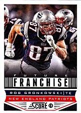 Buy Rob Gronkowski #317 - Patriots 2013 Score Football Trading Card