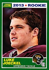 Buy Luke Joeckel #394 - Jaguars 2013 Score Rookie Football Trading Card