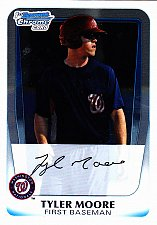 Buy Tyler Moore #BCP5 - Nationals 2011 Bowman Chrome Baseball Trading Card
