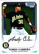 Buy Yordy Cabrera #BCP97 - Athletics 2011 Crome Baseball Trading Card