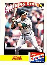 Buy Walt Weiss #22 - Athletics 1989 Topps Bazooka Baseball Trading Card