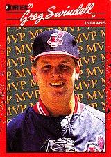 Buy Greg Swindell #24 - Indians 1990 Donruss Baseball Trading Card