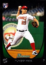 Buy Yunesky Maya #200 - Nationals 2011 Bowman RC Baseball Trading Card