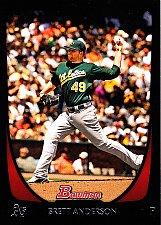 Buy Brett Anderson #51 - Athletics 2011 Bowman Baseball Trading Card