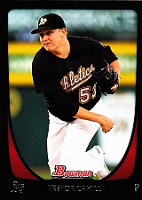 Buy Trevor Cahill #64 - Athletics 2011 Bowman Baseball Trading Card
