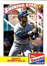 Buy Gary Sheffield #19 - Brewers 1989 Topps Bazooka Baseball Trading Card