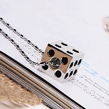 Buy women men dice necklace