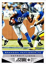 Buy Brandon Pettigrew #72 - Lions 2013 Score Football Trading Card