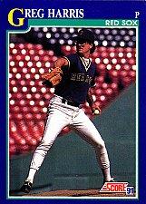 Buy Greg Harris #109 - Red Sox 1991 Score Baseball Trading Card