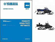 Buy 2010-2011 Yamaha RS Vector / RS Venture Snowmobile Service Manual CD - RS90 90