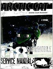Buy 2008 Arctic Cat 120 660 1100 4-Stroke Model Snowmobiles Service Repair Manual CD