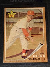Buy 1962 Topps Rookie Paul Brown #181 Phillies