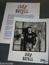 Buy john mayall BIG spinning coin 1995 press kit & photo [blues breakers]