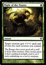Buy Might of the Masses - Green - Instant - Magic the Gathering Trading Card