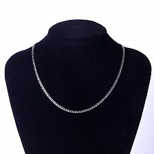 Buy men silver plated stainless steel 45cm necklace