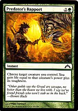Buy Predator's Rapport - Green - Instant - Magic the Gathering Trading Card