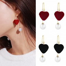 Buy Women girl fashion heart earring
