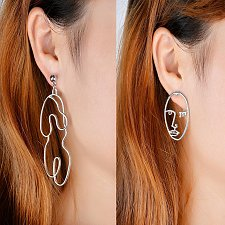 Buy Women funny silver plated body earring