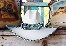 Buy Cherokee Native American Style Extra Wide Hat Band Hand Beaded Hatband