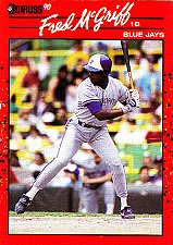 Buy Fred McGriff #188 - Blue Jays 1990 Donruss Baseball Trading Card
