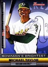 Buy Michael Taylor #BBR12 - Athletics 2011 Bowman Baseball Trading Card