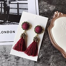 Buy 1 pair tassel vintage earrings
