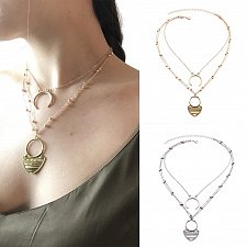 Buy women gold/silver plated layers necklace