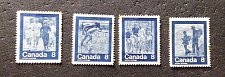 "Buy Canada Used stamp set 4v #629i-32i ""Keep Fit"" Summer Sports"